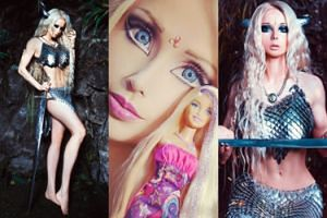 """""""Żywa Barbie"""" jako... wojowniczka z rogami! (ZDJĘCIA)"""