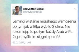 """Bosak o zamieszkach w Ełku: """"Każdy Arab pomyśli dwa razy, zanim sięgnie po nóż!"""""""