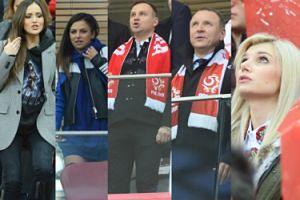 WAGs i politycy na meczu Polska-Czarnogóra: Marina, Lewandowska, Duda, Kurski... (DUŻO ZDJĘĆ)