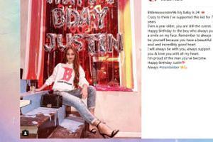Angelika Mucha świętuje urodziny Justina Biebera balonami Justina Timberlake'a