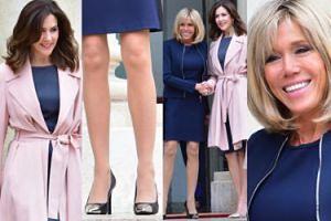 Brigitte Macron odsłania kolana na spotkaniu z księżną Mary (ZDJĘCIA)