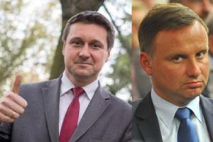 """Seksposeł PiS-u chce się wypromować na... Andrzeju Dudzie. """"Wymknął się i próbował dołączyć samochodem do prezydenckiej kolumny"""""""