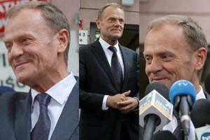 """Zadowolony Tusk wychodzi z prokuratury. """"Nie mam się czego bać, pan prezes mnie NIE PRZESTRASZY!"""" (ZDJĘCIA)"""