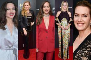 Gwiazdy kina na gali w Hollywood: Jolie, Winslet, Adams, Robbie, Johnson... (ZDJĘCIA)