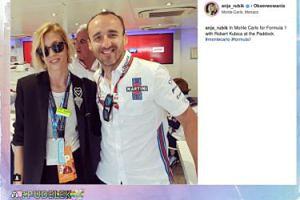 Robert Kubica i Anja Rubik pozują w Monte Carlo