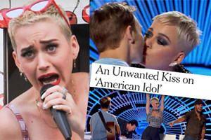 """Katy Perry zmusiła uczestnika """"Idola"""" do pocałunku! Widzowie są oburzeni: """"To molestowanie seksualne!"""""""