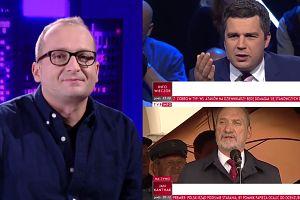 Robert Górski wymyśla paski dla TVP Info (WIDEO)