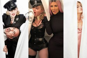 Kim Kardashian, Margot Robbie, Lennifer Lawrence i inni na oscarowej imprezie Madonny (ZDJĘCIA)