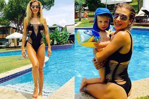 Łukomska-Pyżalska pozuje w kostiumie kąpielowym