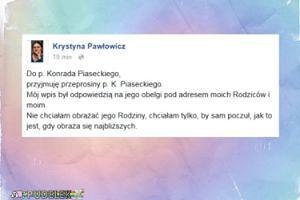 """Pawłowicz odpowiada Piaseckiemu: """"Przyjmuję przeprosiny. Mój wpis był odpowiedzią na jego obelgi"""""""