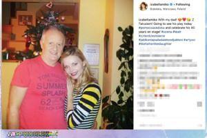 Izabella Miko przytula się do taty