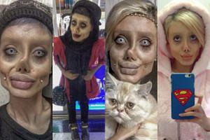 """Irańska """"zombie Angelina"""" jest nowym objawieniem Instagrama! Podobna do oryginału? (ZDJĘCIA)"""