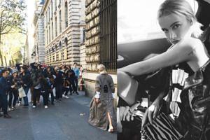 Tłum fotoreporterów w Paryżu robi zdjęcia Maffashion (FOTO)