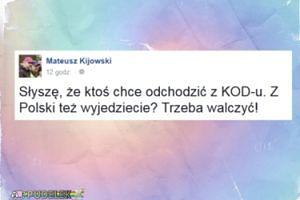 """Kijowski do odchodzących z KOD-u: """"Z Polski też wyjedziecie?"""""""