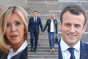 Miłość Brigitte i Emmanuela Macronów kwitnie na schodach w Paryżu (ZDJĘCIA)