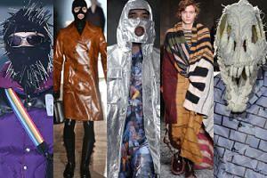 Tak wyglądały tygodnie mody męskiej: kominiarki z gwoździami, kaptury z dziurą na usta, czapki-czaszki i wielkie koce (ZDJĘCIA)
