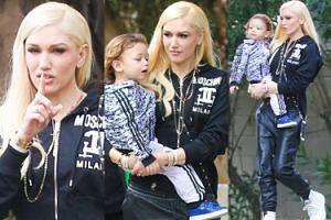 Gwen Stefani gra z najmłodszym synem w koszykówkę (ZDJĘCIA)