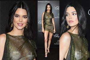 Kendall Jenner świeci bladymi piersiami na ściance w Cannes (ZDJĘCIA)