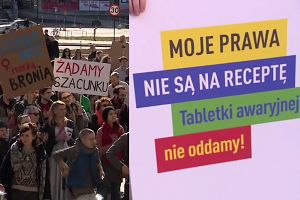 """Protesty kobiet """"przeciwko przemocy władzy"""" w całej Polsce"""