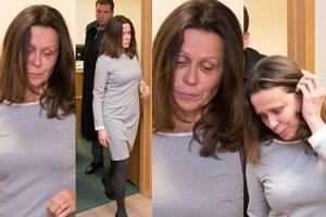 Załamana żona Grabowskiego wychodzi z sali rozpraw... (ZDJĘCIA)