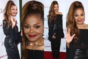 Odchudzona Janet Jackson pozuje na czerwonym dywanie (ZDJĘCIA)