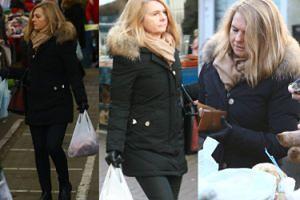 Elegancka Małgorzata Tusk robi świąteczne zakupy na bazarku (ZDJĘCIA)