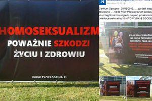 """Mieszkańcy Opoczna oburzeni wystawą """"Homoseksualizm = wczesna śmierć"""""""