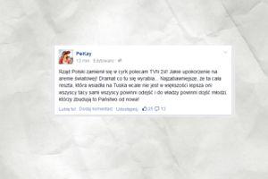 PiKej zabrał się za komentowanie polityki