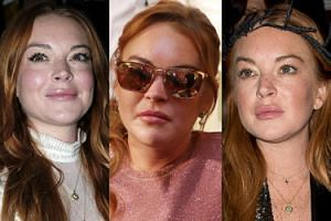 Nowa twarz Lindsay Lohan na tygodniu mody w Madrycie... (ZDJĘCIA)