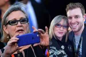 """Ostatnie """"selfie"""" Carrie Fisher. Zgodziła się na nie pod jednym warunkiem... (FOTO)"""