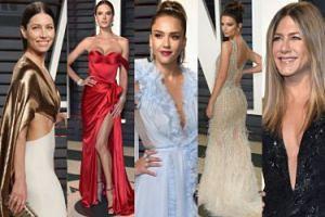"""TŁUM GWIAZD na """"Vanity Fair"""" Oscar Party: Biel, Ambrosio, Alba, Aniston, Ratajkowski... (DUŻO ZDJĘĆ)"""