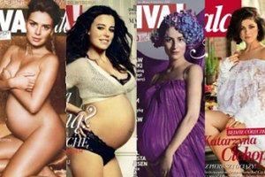 Gwiazdy w ciąży: Kto pokazał BRZUCH NA OKŁADCE? (ZDJĘCIA)