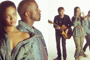 Kulisy teledysku Rihanny z McCartneyem i Kanye Westem!