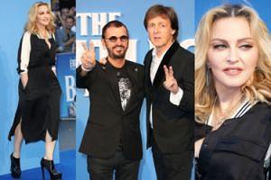 Madonna i 74-letni Paul McCartney na premierze filmu o Beatlesach (ZDJĘCIA)
