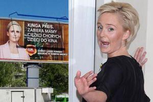 Kinga Preis w reklamie dewelopera chwali się, że pomaga innym. Przesada?