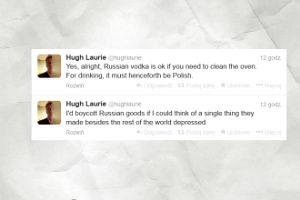 Hugh Laurie poleca picie polskiej wódki!