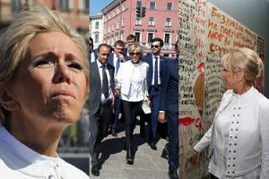 Pomarszczona Brigitte Macron zwiedza Sankt Petersburg (ZDJĘCIA)