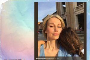 Magdalena Ogórek na selfie z córką