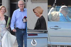 Zamachowska wsiada do Mustanga kolegi. Już jej nie stać na taksówki?