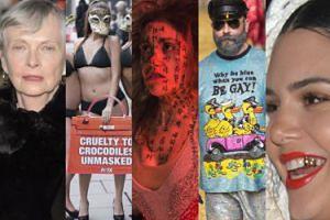 Tydzień mody w Londynie: protesty PETA, modelki-seniorki i złoty ząb Kendal Jenner (ZDJĘCIA)