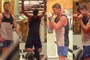 Roznerski ćwiczy mięśnie na siłowni. SEKSOWNY?