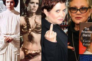 """Carrie Fisher, księżniczka Leia z """"Gwiezdnych Wojen"""": 1956-2016 (ZDJĘCIA)"""