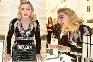 Wydekoltowana Madonna zachęca do zakupu kosmetyków z autorskiej linii (ZDJĘCIA)