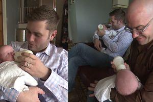 Parze gejów urodziły się TROJACZKI. Mają geny obu ojców!