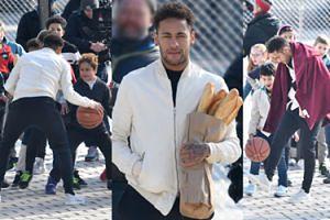 Neymar w reklamie z bagietkami, kozłuje i drybluje na boisku z dzieciakami (ZDJĘCIA)