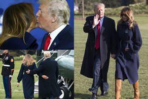 Nietypowe CZUŁOŚCI Melanii i Donalda pod Białym Domem. Uroczy? (ZDJĘCIA)