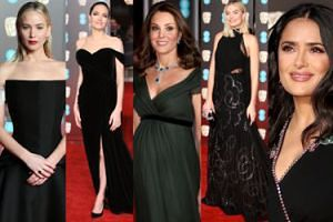 BAFTA 2018: Księżna Kate, Jolie, Lawrence, Robbie, Hayek, Nyong'o... (ZDJĘCIA)