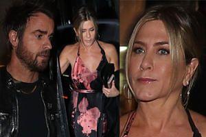 Spięta Jennifer Aniston idzie z mężem na randkę w Paryżu (FOTO)