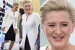 Elegancka Agata Kornhauser-Duda świętuje Dzień Kobiet z kobietami w mundurach (ZDJĘCIA)