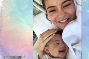 Szczęśliwa Kylie Jenner tuli córkę